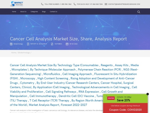 Cancer Cell Analysis Market Share