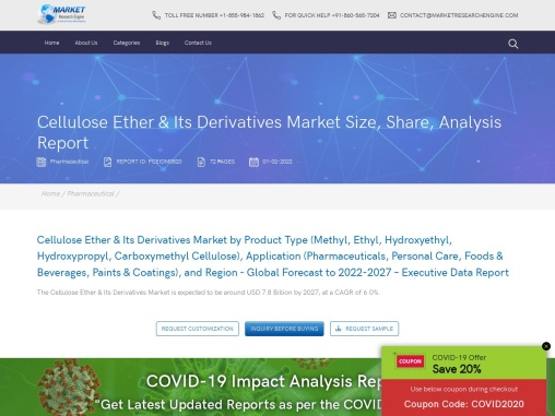 Cellulose Ether & Its Derivatives Market Size