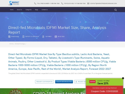 Direct-fed Microbials (DFM) Market Share