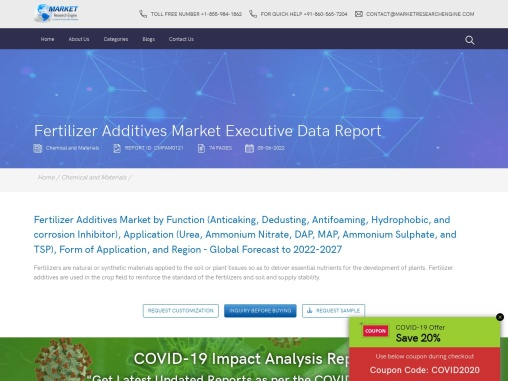 Fertilizer Additives Market share