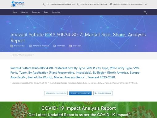Imazalil Sulfate (CAS 60534-80-7) Market Share