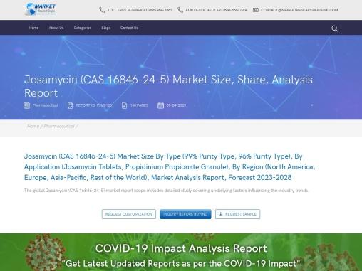 Josamycin (CAS 16846-24-5) Market Size