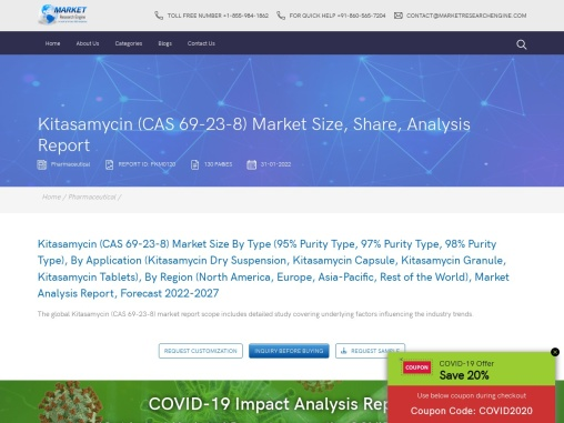 Kitasamycin (CAS 69-23-8) Market Share
