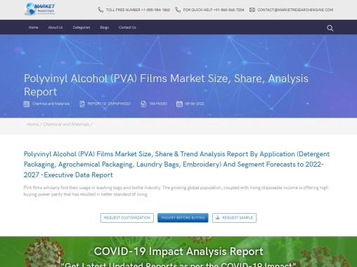 Polyvinyl Alcohol (PVA) Films market size