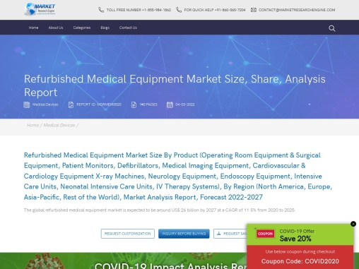 Refurbished Medical Equipment Market Share