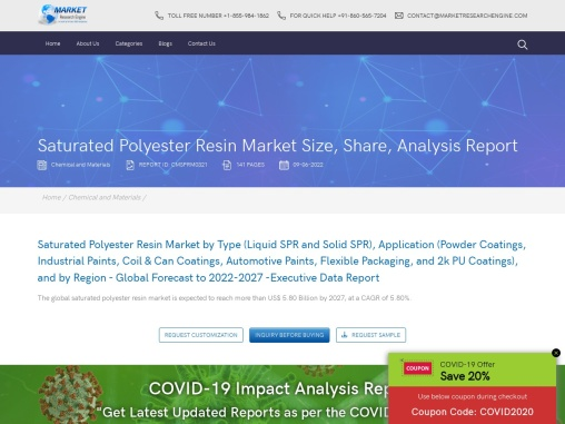 saturated polyester resin market