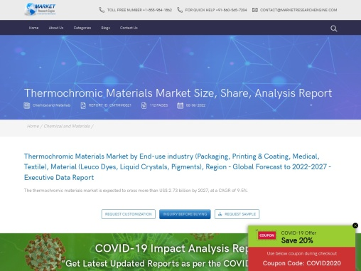 thermochromic materials market share