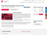 Global 3D Bioprinting Market Outlook to 2026