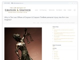 Why is The Law Offices of Grayson & Grayson TheBest personal injury law firm Los Angeles?