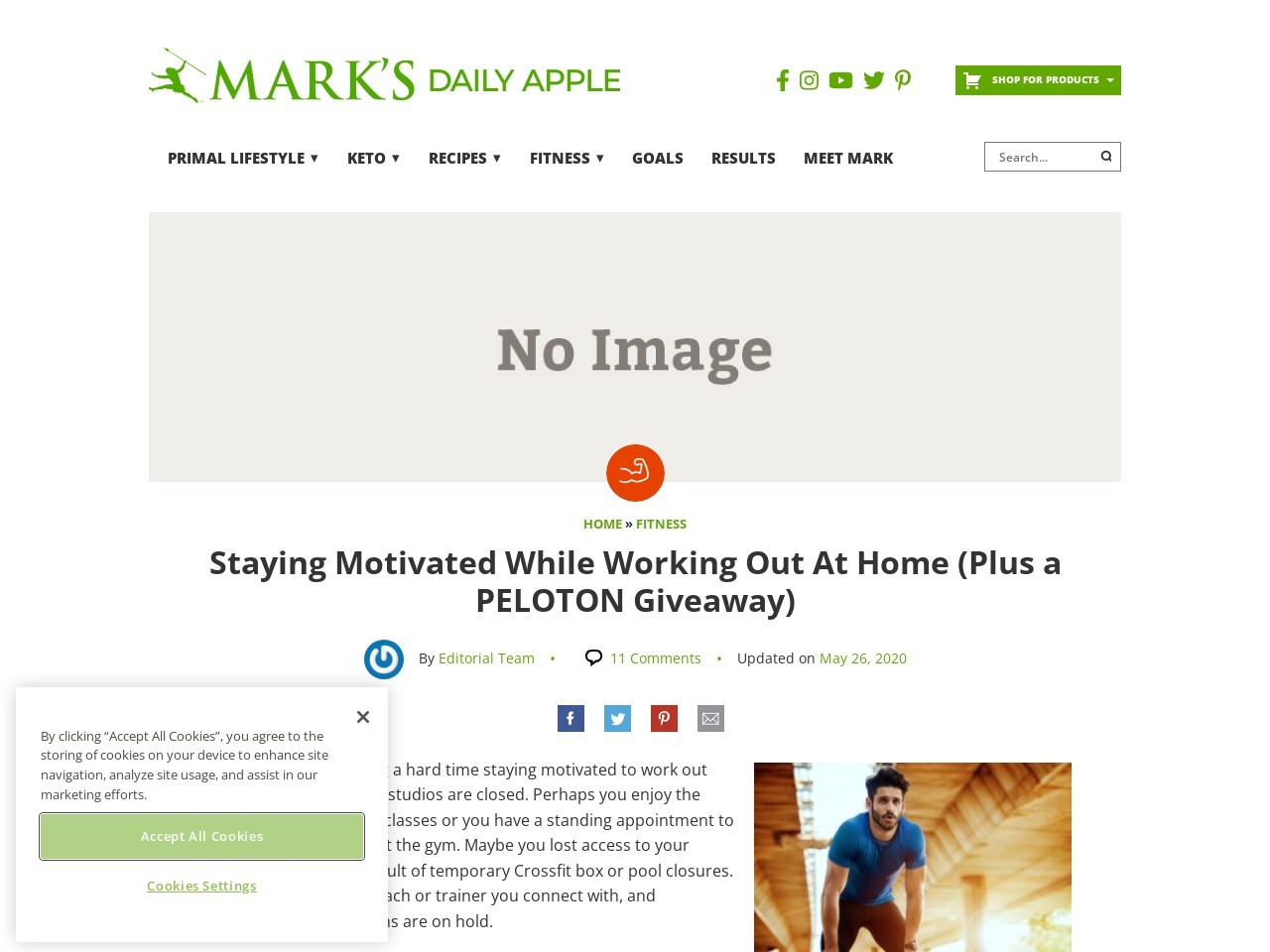 Staying Motivated While Working Out At Home (Plus a PELOTON Giveaway)