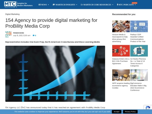 154 Agency to provide digital marketing for ProBility Media Corp