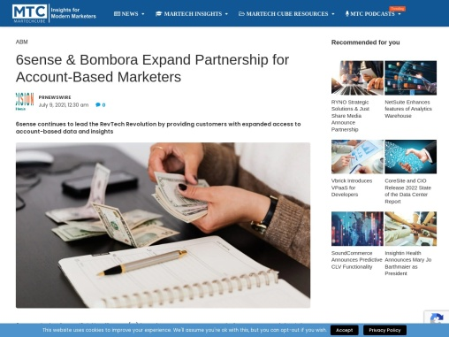 6sense & Bombora Expand Partnership for Account-Based Marketers