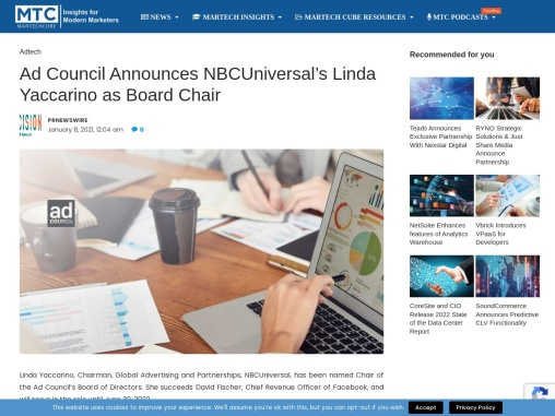 Ad Council Announces NBCUniversal's Linda Yaccarino as Board Chair