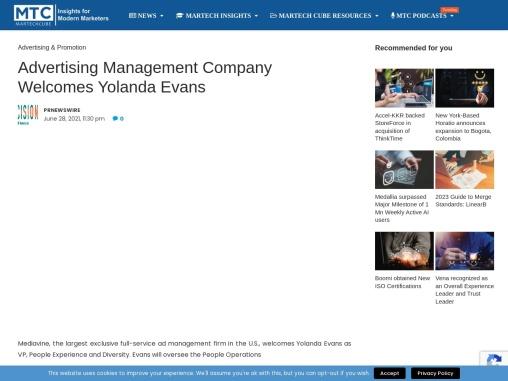 Advertising Management Company Welcomes Yolanda Evans