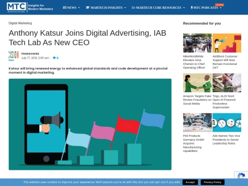 Anthony Katsur Joins Digital Advertising, IAB Tech Lab As New CEO