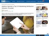Aptitive Named a Top 10 Marketing Attribution Solution Provider
