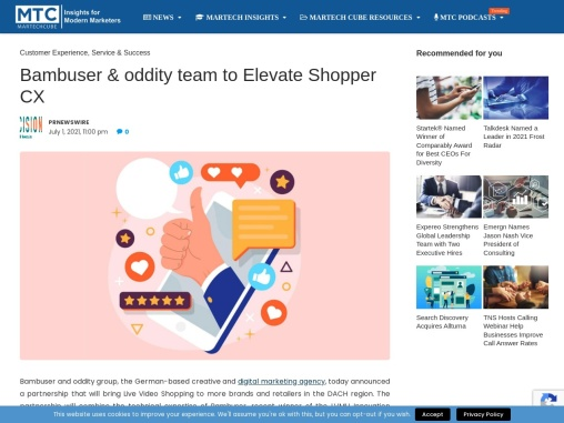 Bambuser & oddity team to Elevate Shopper CX