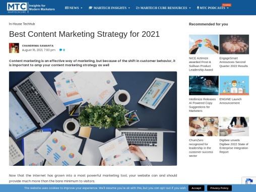 Best Content Marketing Strategy for 2021
