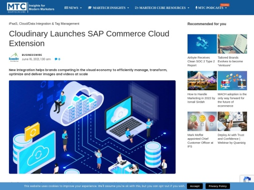 Cloudinary Launches SAP Commerce Cloud Extension
