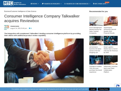 Consumer Intelligence Company Talkwalker acquires Reviewbox