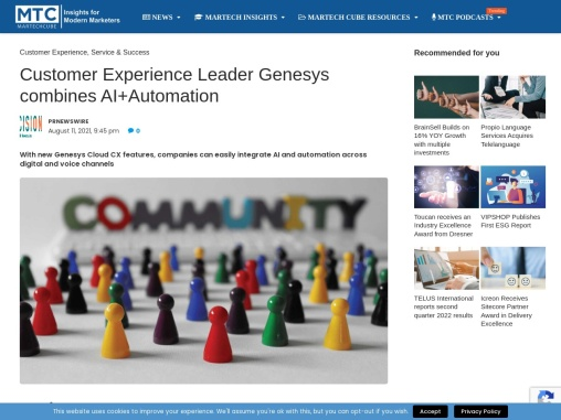 Customer Experience Leader Genesys combines AI+Automation