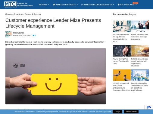 Customer experience Leader Mize Presents Lifecycle Management