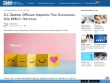 CX Startup Officium Appoints Two Executives, Hits $9M in Revenue
