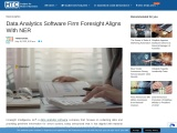 Data Analytics Software Firm Foresight Aligns With NER