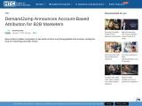 DemandJump Announces Account-Based Attribution for B2B Marketers