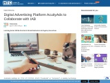 Digital Advertising Platform AcuityAds to Collaborate with IAB