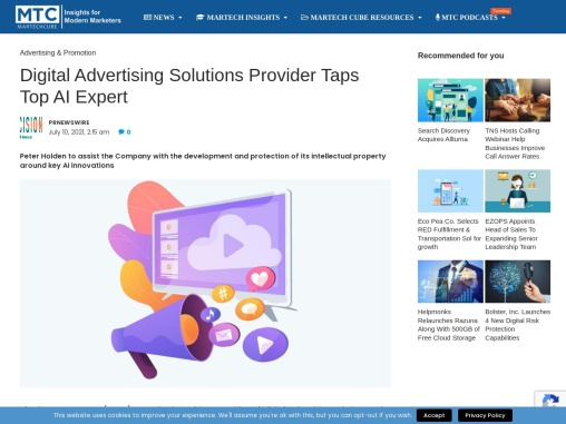 Digital Advertising Solutions Provider Taps Top AI Expert