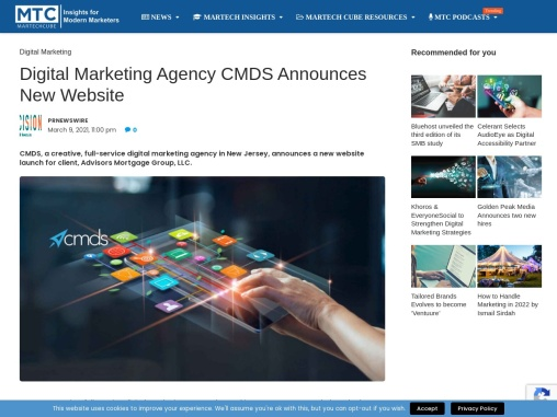 Digital Marketing Agency CMDS Announces New Website