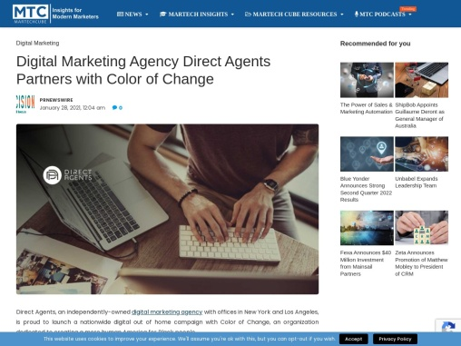 Digital Marketing Agency Direct Agents Partners with Color of Change