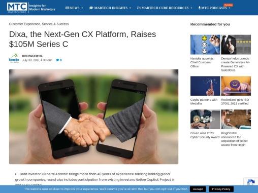 Dixa, the Next-Gen CX Platform, Raises $105M Series C