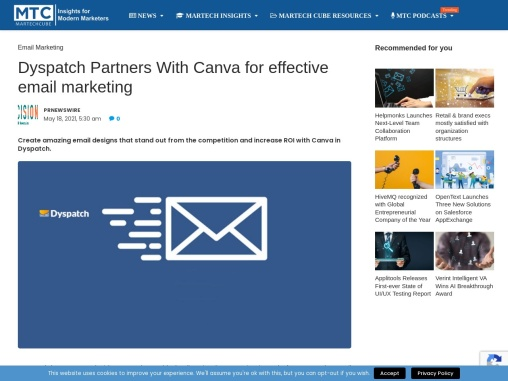 Dyspatch Partners With Canva for effective email marketing