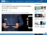 HGS Digital Recognized for its Social Media Customer Care Solution