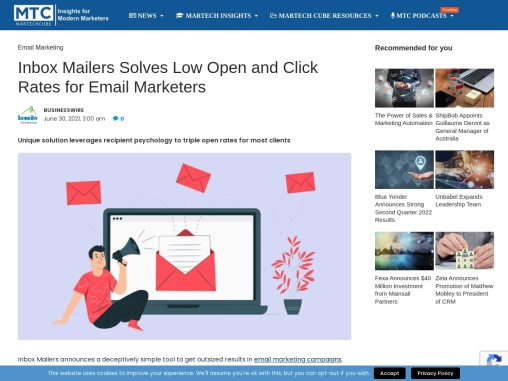 Inbox Mailers Solves Low Open and Click Rates for Email Marketers