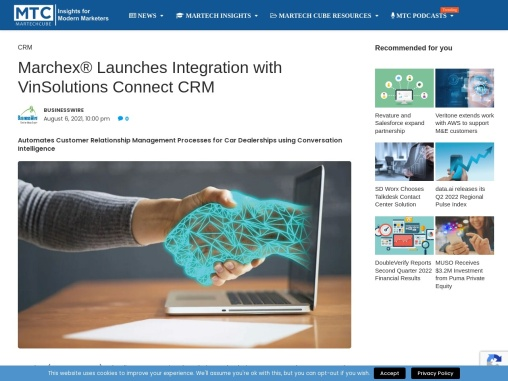 Marchex® Launches Integration with VinSolutions Connect CRM
