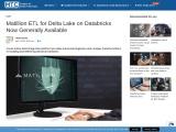 Matillion ETL for Delta Lake on Databricks Now Generally Available