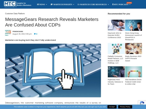 MessageGears Research Reveals Marketers Are Confused About CDPs