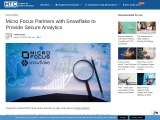 Micro Focus Partners with Snowflake to Provide Secure Analytics