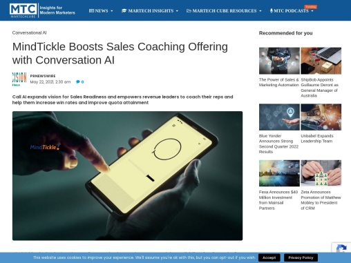 MindTickle Boosts Sales Coaching Offering with Conversation AI