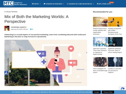 Mix of Both the Marketing Worlds: A Perspective