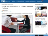Oracle Named a Leader for Digital Experience Platforms