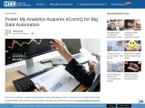 Power My Analytics Acquires eComIQ for Big Data Automation
