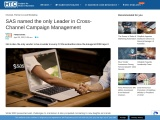SAS named the only Leader in Cross-Channel Campaign Management