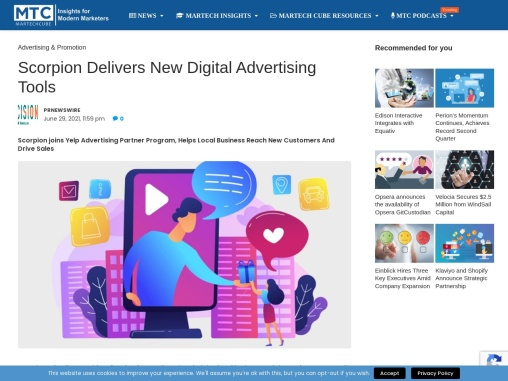 Scorpion Delivers New Digital Advertising Tools