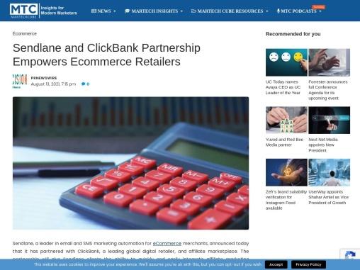 Sendlane and ClickBank Partnership Empowers Ecommerce Retailers