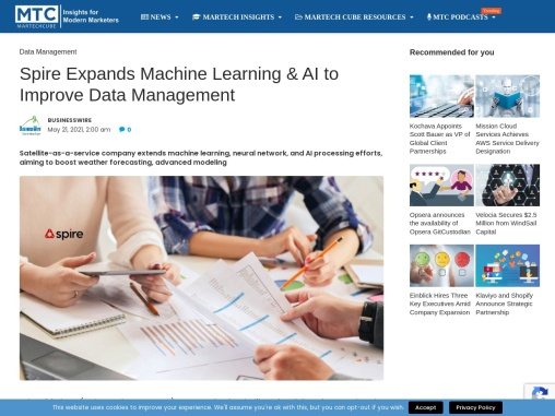 Spire Expands Machine Learning & AI to Improve Data Management