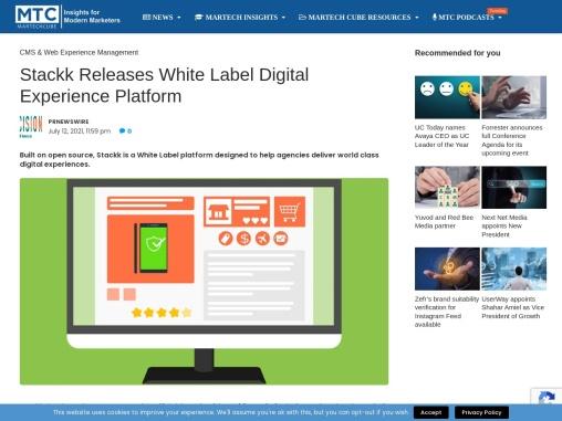 Stackk Releases White Label Digital Experience Platform
